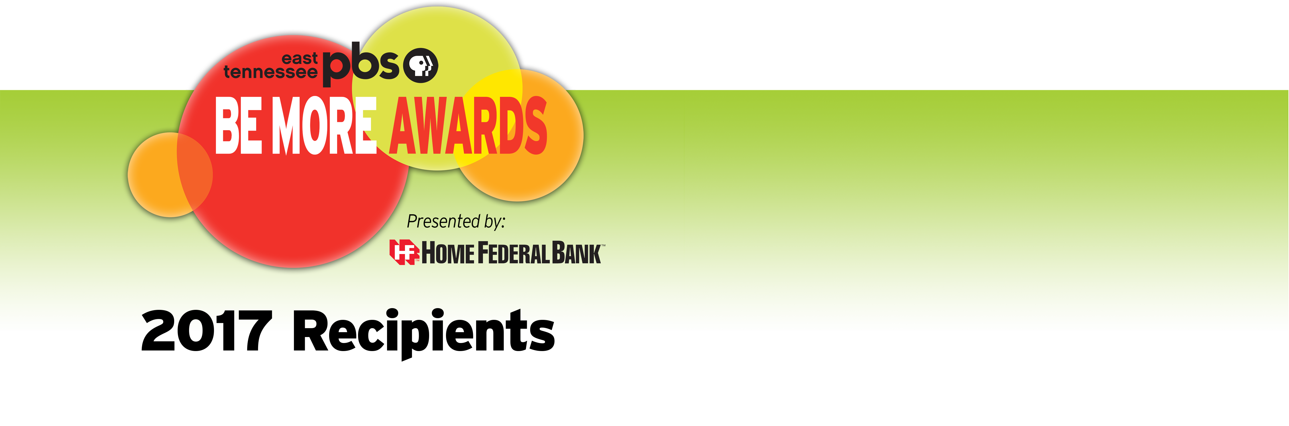 2017 Be More Awards Presented by Home Federal Bank