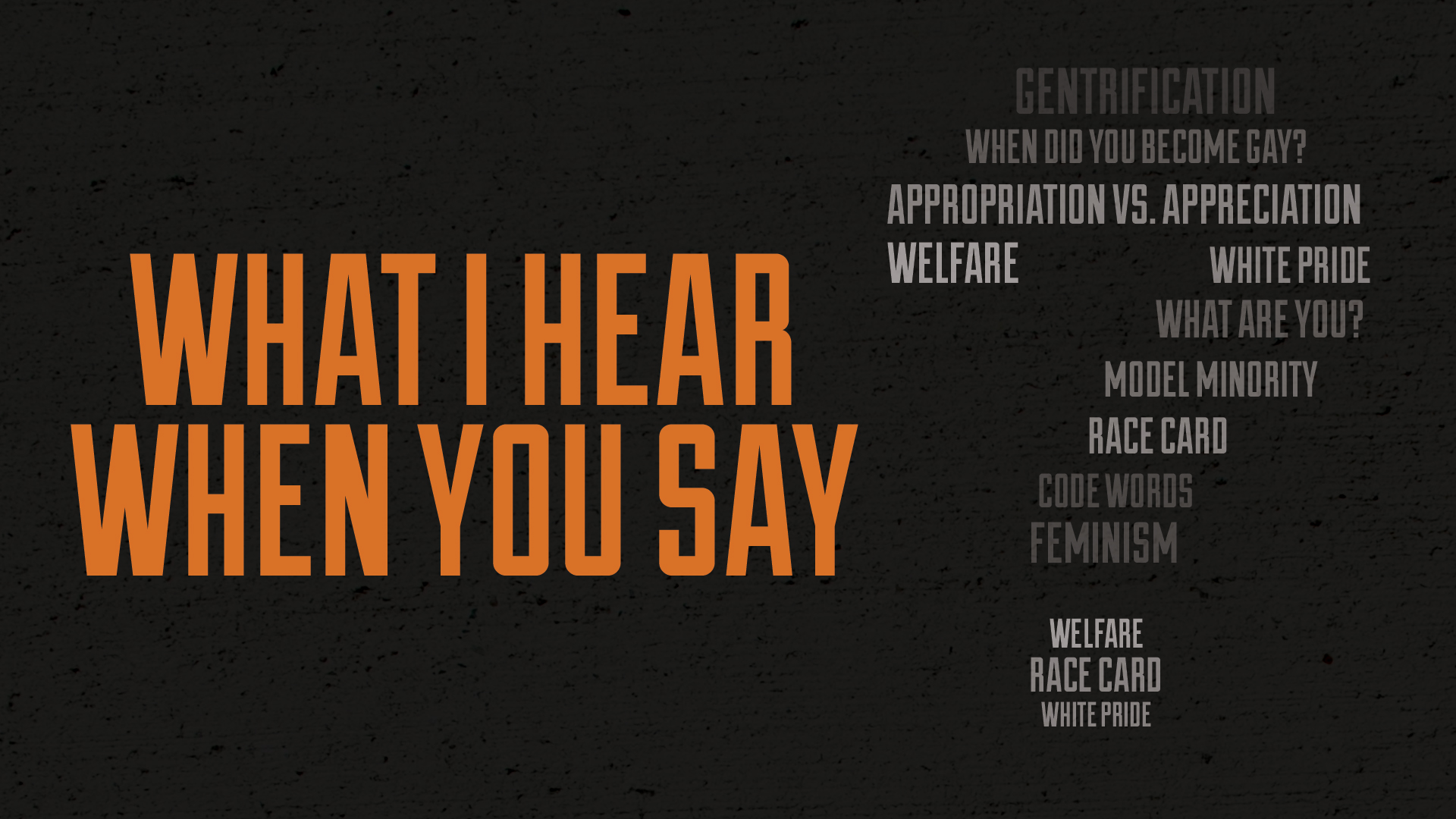 White Pride | Watch The Series | What I Hear When You Say
