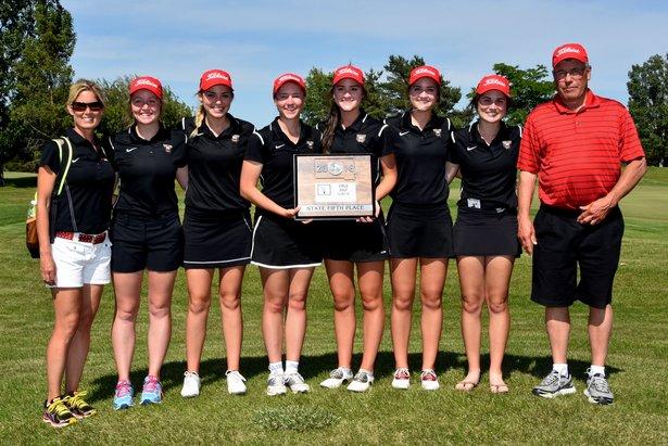 2016 Class AA Girls Golf 5th Place - Brookings