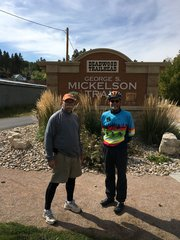 larry and brian at the Deadwood trail head