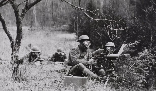 South Dakota 147th Field Artillery training excercise, France, 1917.