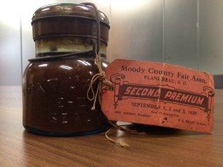 old jar of preserved pumpkin