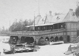 The original boat house in Delaware Park designed by Calvert Vaux, 1894.