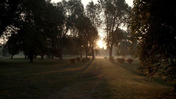 Sunset in Delaware Park.