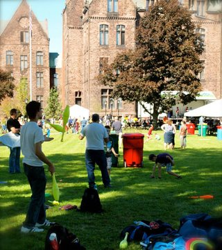 The renewed South Lawn is enjoyed by the community.