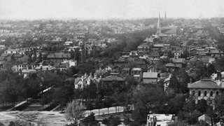A view of Buffalo at the time Olmsted and Vaux began to work there.