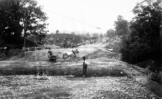 Construction on Buffalo's park system, 1870's.
