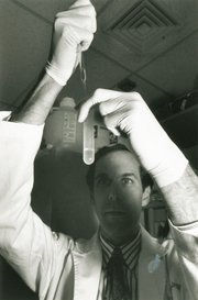 Dr. Brian Druker in lab