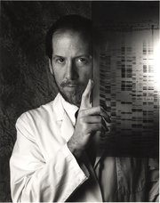 Dr. Bert Vogelstein with DNA images