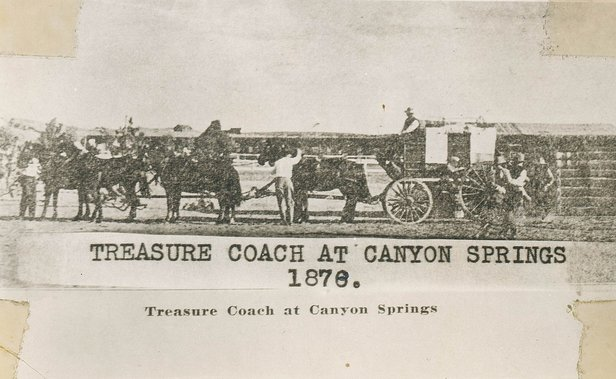 This image features a replica treasure coach, similar to the one Anna describes in her journal.