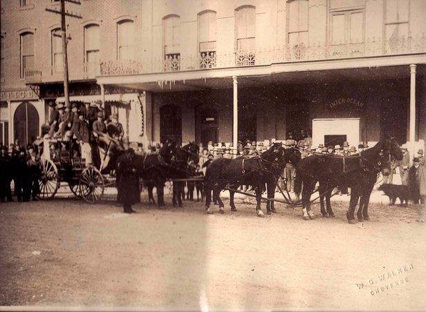 An 18-passenger stagecoach