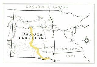map of dakota territory