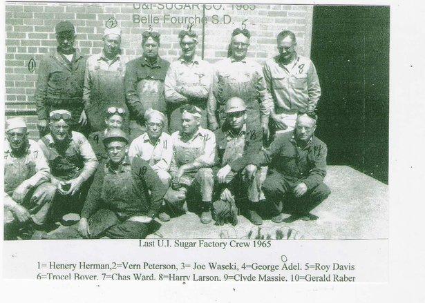 Last crew at the sugar plant