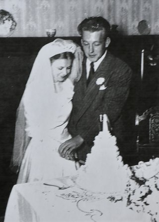 Bill Lofgren and Wife on Wedding Day