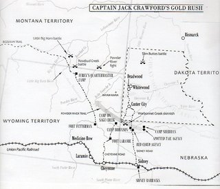 Map of Jack Crawford's Travels