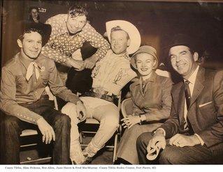 Casey Tibbs with movie stars