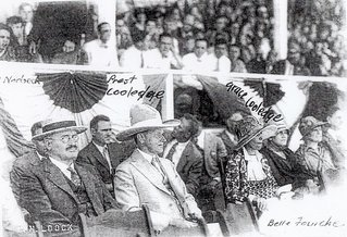 Calvin and Grace Coolidge at a Belle Fourche Rodeo