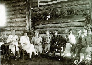Grace Coolidge dedicating Custer YMCA