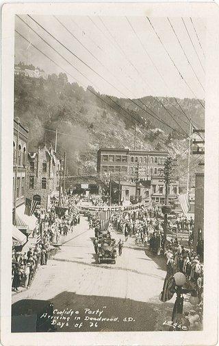 calvin coolidge in deadwood parade