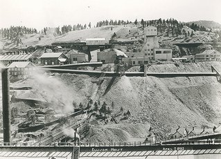 Homestake gold mine surface photo