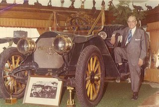Thomas Fawick with his flyer - 1970s