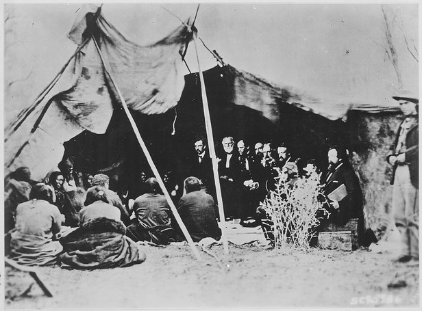 fort laramie treaty signing