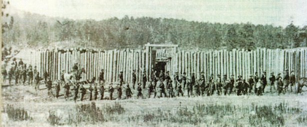 old photo of army at gordon stockade
