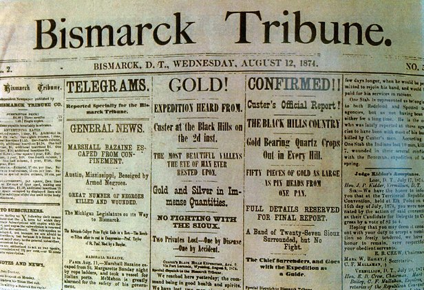 bismarck ND newspaper headline image