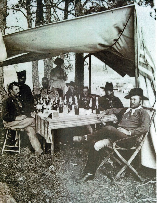 soldiers in the black hills, 1874