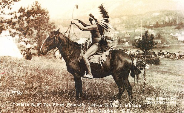 native in warrior costume