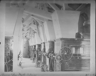 Interior, Queen Bee Mill, ca. 1890