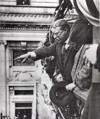 Teddy Roosevelt campaigning