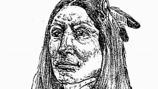 sketch of Crazy Horse