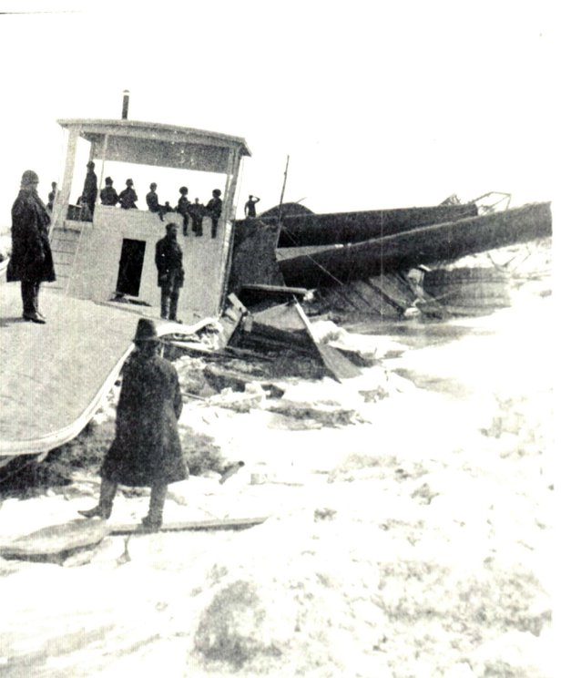 riverboat in the missouri river flood of 1881