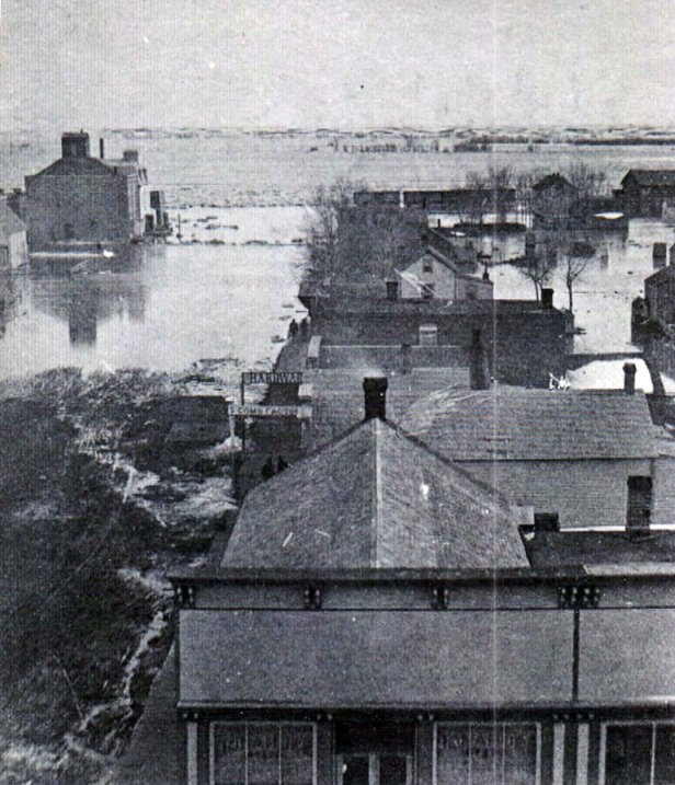 1881 flood on Capitol Street Yankton