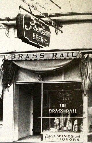 brass rail bar