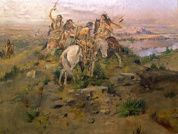 russell painting - lewis and clark