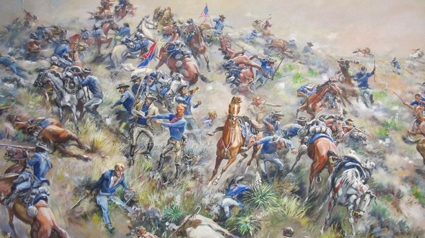 painting of big horn battle
