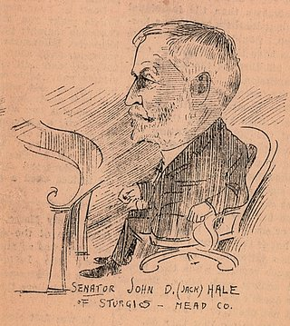 drawing of hale in legislature