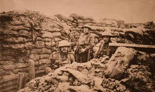 trench warfare in France - ca 1918