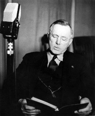 Joseph Hutton on the radio