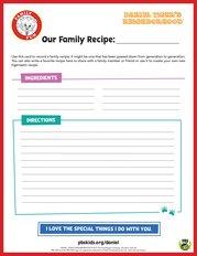 Daniel Tiger's Our Family Recipe
