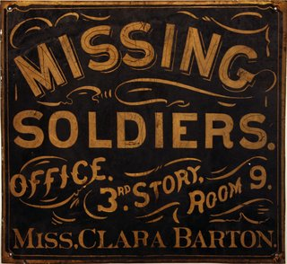 Missing Soldiers Office sign