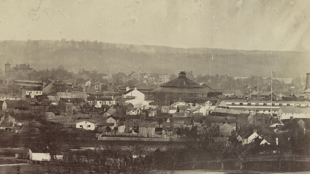 Photograph shows bird's-eye view of Alexandria, Va. (circa 1861-1865)