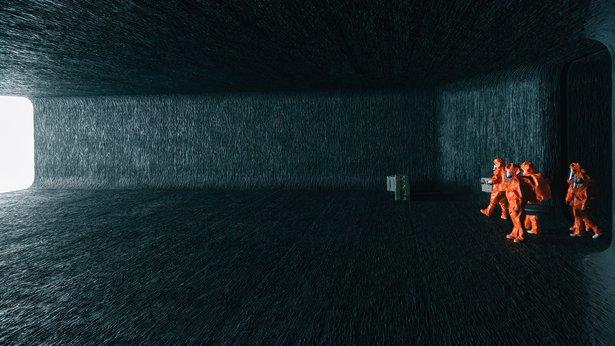"Scientists arrive in an alien ship in ""Arrival."""