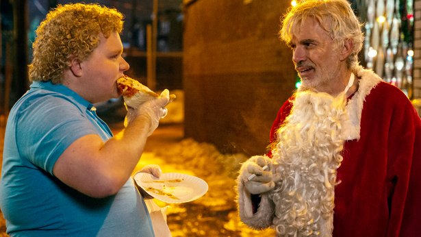 "Brett Kelly and Billy Bob Thornton star in ""Bad Santa 2."""