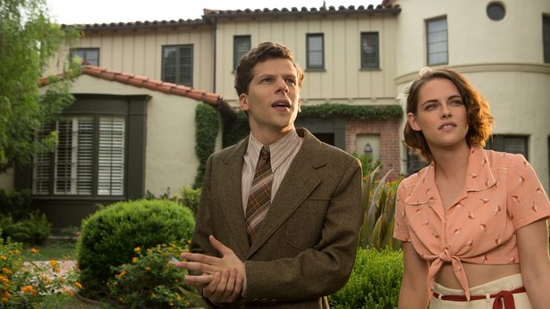 """Jesse Eisenberg and Kristen Stewart star in """"Cafe Society,"""" the latest from Woody Allen."""