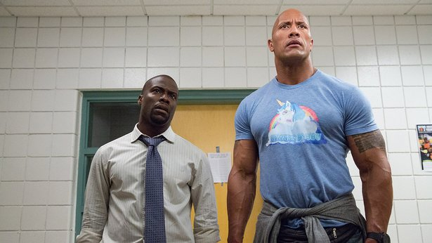 "Kevin Hart and Dwayne Johnson star in ""Central Intelligence."""