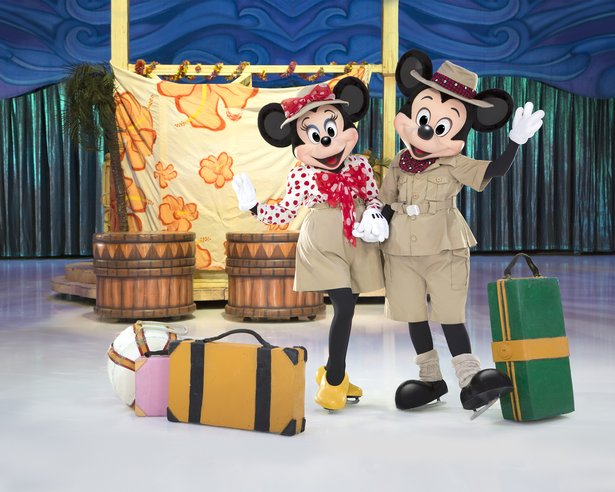 "Mickey and Minnie take kids on a journey in Disney on Ice's ""Passport to Adventure."""