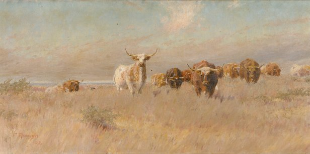 """Frank Reaugh, artist of """"The Approaching Herd,"""" will be featured in a new film screening Sept. 29."""